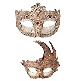 YUFENG 2pcs Venetian Masquerade Prom Party Masks Costumes Party Accessory