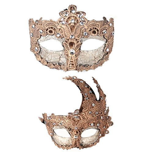 2pcs Venetian Masquerade Prom Party Masks Costumes Party Accessory