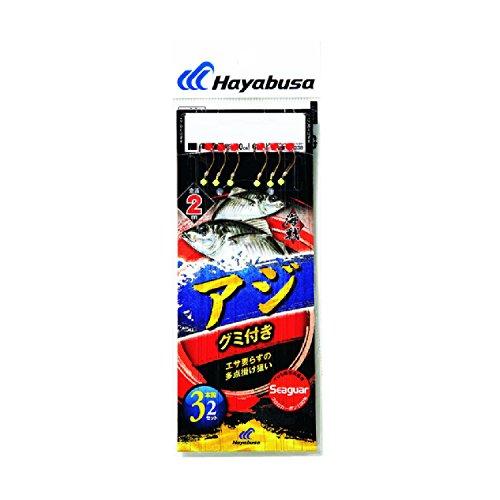 ハヤブサ(Hayabusa) 海戦アジ グミ付き シーガー 3本鈎2セット 11-3-3 SE338