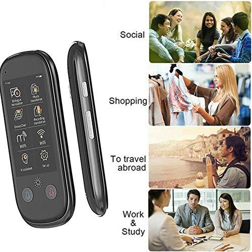 Dispositivo de traducción instantánea de Idiomas, Soporte de 75 Idiomas, GPS + 8GB, traductor Inteligente en Tiempo Real 4G WiFi bidireccional, para Aprender Viajes Negocios de Compras