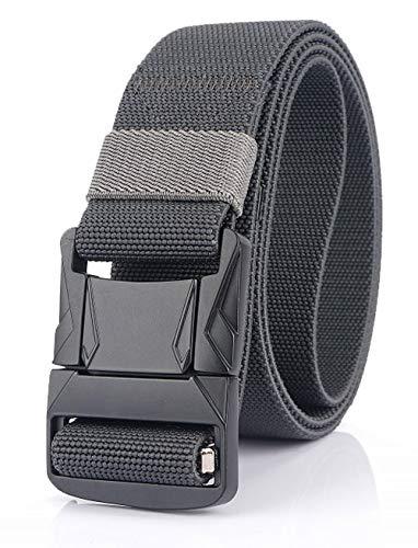 Longwu 2020 Nuevo cinturón táctico, trabajo pesado Cinturón elástico de lona de nylon Cierre rápido con hebilla de metal