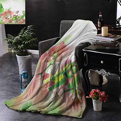 ZSUO Digital Printing Deken Zomer Vakantie Patroon met Fruit en Cocktails Verfrissingen Sap en Drankjes Microvezel deken bank of reizen