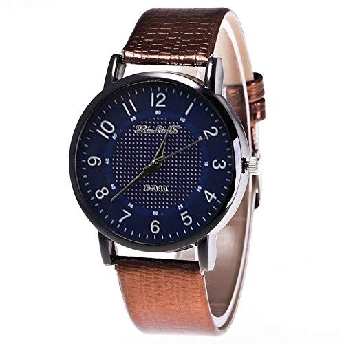Cuero con el reloj de cuarzo de la cáscara negra Hombres y mujer Relojes de cuarzo F340