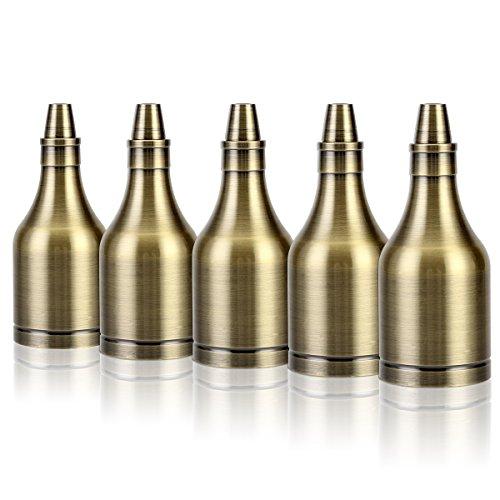 5x GreenSun LED Lighting Vintage Flasche Edison Stil E27 Lampenfassung Deckenfassung Lampensockel Retro Alu E27 Fassung für Pendelleuchte Deckenleuchte DIY Beleuchtung Adapter, Bronze