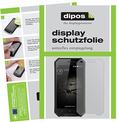 dipos I 2X Schutzfolie matt kompatibel mit Blackview BV4000 Pro Folie Bildschirmschutzfolie