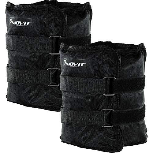 Movit 2er Set Gewichtsmanschetten für Hand- und Fußgelenke 2X 3,0kg Laufgewichte schwarz