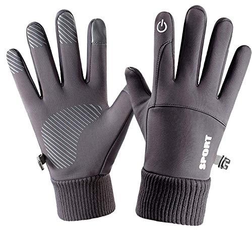 B/H Stretch Dicke Outdoor Winterhandschuhe,Warme,Wasser-und regenfeste Handschuhe,Rutschfester Touchscreen und samtgraue Handschuhe,Freizeit Outdoor Sports Touchscreen Handschuhe