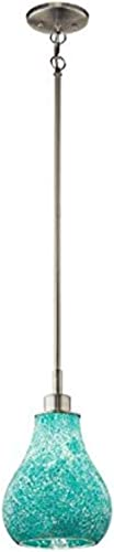 discount Kichler 65408 Crystal Ball Mini online Pendant 1-Light, online Brushed Nickel online sale