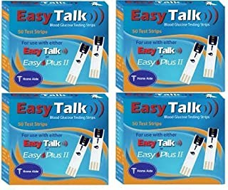 Easy Talk Blood Glucose Test Strips 200Ct Bundle Deal (4 boxes of 50Ct = 200CT Total)