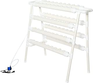 Double Side Hydroponic 72 Holes hydroponic Grow kit,Plant Germination Rack System Grow Kit Water Culture Piping Site US 110-240V for Leafy Vegetables