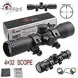 TACFUN AIM Sports Tactical 4X32 Compact .223 .308 Scope/w Rings Mil-Dot Reticle