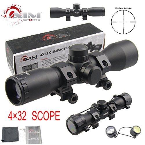 TACFUN - AIM Tactical MIL-DOT Reticle Compact Scope/w Rings