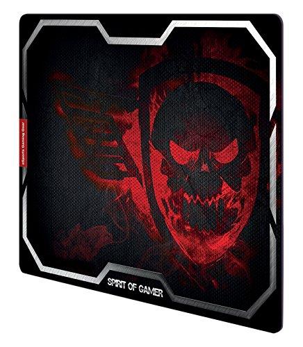 Spirit Of Gamer Smokey Skull Schwarz, Rot Spiel- - Mauspads (Schwarz, Rot, Bild, Kautschuk, Anti-Rutsch-Basis, Spiel-Mauspads)