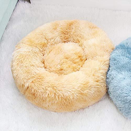 ZGTQC Rainbow Dog Kennel Pet Nest Pet Cushion Cat Nest Dog Cushion Round Plush Pet Supplies Pet Bed