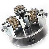 Raizi - Placa de rueda de martillo de arbusto de 5 pulgadas para amoladora angular, superficie de lichi con 3 bits para hormigón de granito martillado
