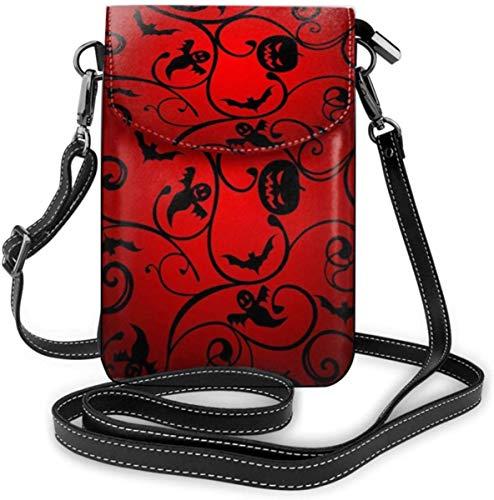 Handy Geldbörse Kleine Crossbody Halloween Muster Wallpaper Hintergrund Brieftasche Taschen Mit Verstellbaren Schultergurt Frauen