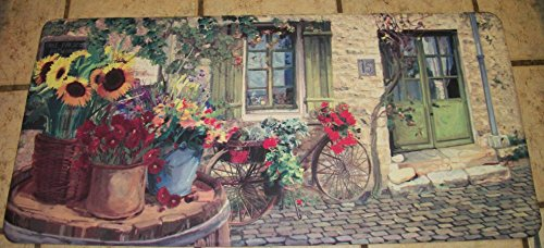 Beveled Edge Cobblestone Village Cushion 42 Inch long by 20 inch tall with all things beautiful like Sunflowers Check my storefront!