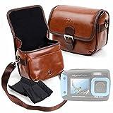 DURAGADGET Bolsa Profesional marrón con Compartimentos...