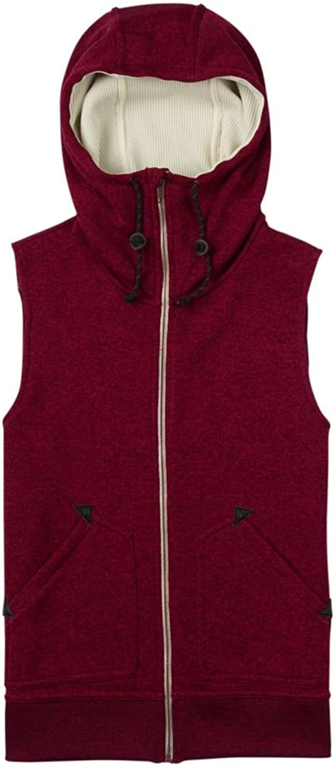 Burton Women's Starr Vest Sweater Fleece Sangria Heather