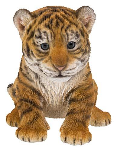 Haustier-Freunde, die Tiger Cub Highly Detailed Home- oder Garten-Dekoration sitzen