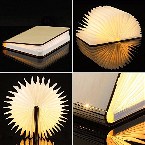 Große LED Buchlampe in Buch Form mit Akku - 3