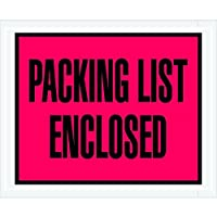Ship Now Supply SNPL402 Packing List Enclosed Envelopes 4 1/2 x 5 1/2 5width 4.5 Length Red (Pack of 1000) [並行輸入品]