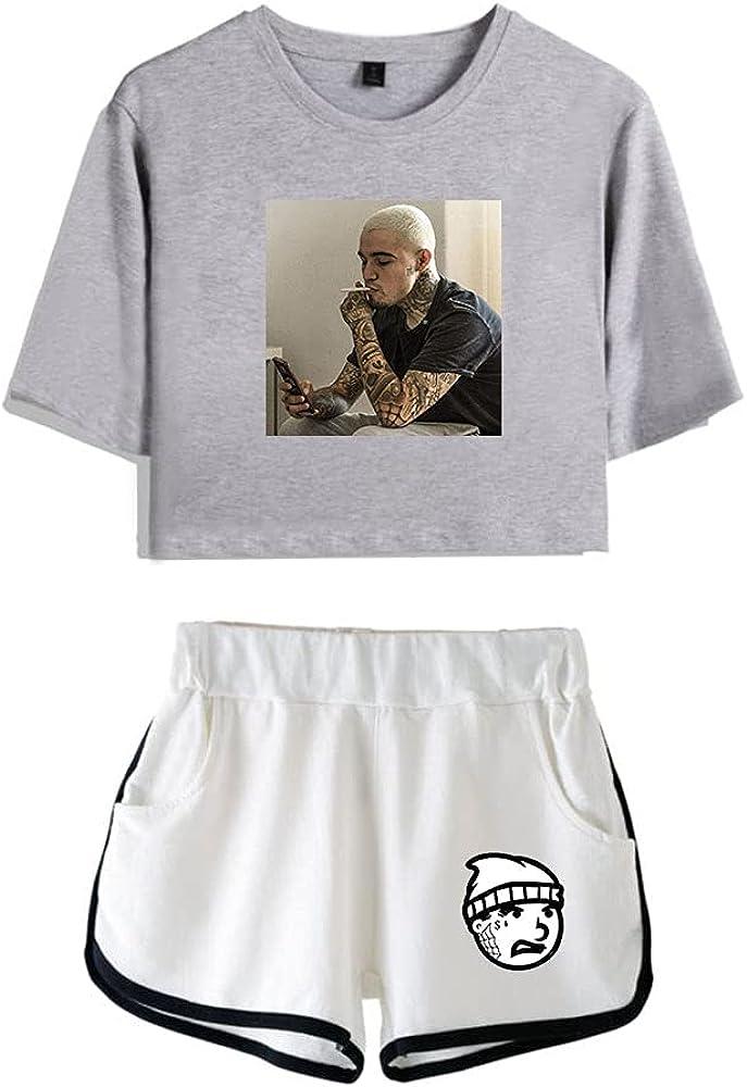 Tydres Gera MX 2 Piece Sets Hip Hop Short Sleeve Suit Womens Girl Set Casual Accessories Fashion Suit (GW-YM00709,XXL)