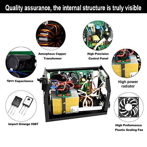 HITBOX ARC Lift Tig Welder 200A 220V Stick MMA IGBT Inverter Welding Machine Can Weld 7018 4.0mm Cellulose Rod (Model: HB2200)