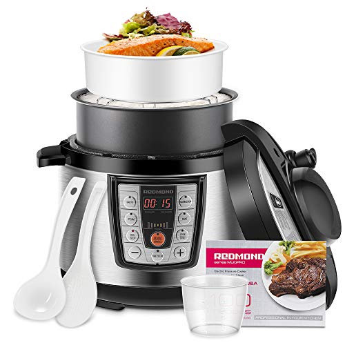 REDMOND Electric Pressure Cooker,5 Quart Multicooker 6-in-1 Multi-Use Programmable for Slow Cooker, Rice Cooker, Sauté,Steamer, and Warmer, Stainless Steel Inner Pot(PM4506A)