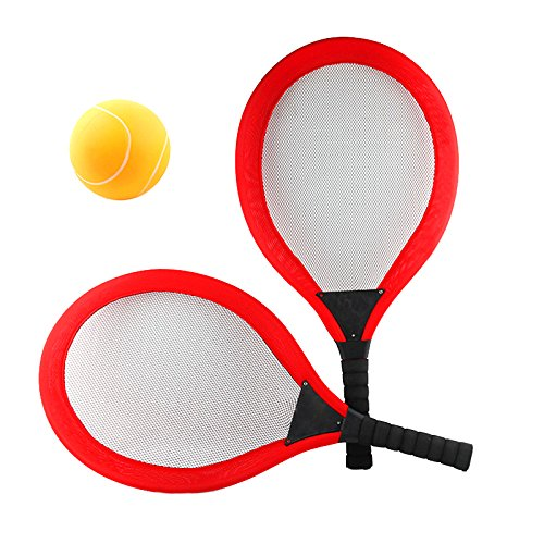 NUOBESTY Badminton-Tennis-Set Badmintonschläger Wasser Tennisschläger Tennisbälle Spiel Strand Spielzeug (Farbe in zufälliger Reihenfolge)
