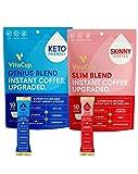 VitaCup Instant Coffee Stick (20) Count Bundle | Genius & Slim Blend | Superfood & Vitamins B1, B5, B6, B9, B12, & D3 Infused | Vegan | Enjoy Hot or Cold