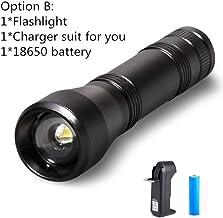 LED UV Flashlight Ultraviolet Torch 5Mode Mini UV Light Zoomable Function 395nm Ultra Violet Light Blacklight use 18650 Ba...