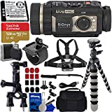 SiOnyx Aurora Black Water-Resistant IR Night Vision Camera with Basic Action Bundle - Include: SanDisk Extreme 128GB microSDXC Memory Card with Adapter, 3-Way Pipe Mount, Flexible Tripod and Much More