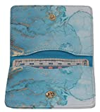 Birth Control Pill Case/Wallet - Marble Blue - Cute and Discreet 4' x 3'