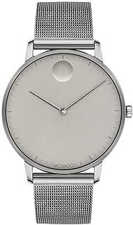 FACE Grey Stainless Steel Case, Mesh Bracelet, Grey Dial, Men, 3640008