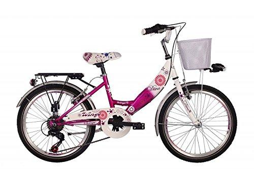 """Unbekannt 20\"""" 20 Zoll Kinder Mädchen City Fahrrad Kinderfahrrad Cityfahrrad Mädchenfahrrad Rad Bike Diva PINK"""