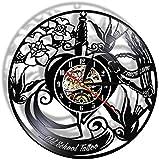 GodyGT Tattoo Studio Record Reloj de Pared Personalizar Logo Tu Imagen Tattoo Shop Reloj 12 Pulgadas