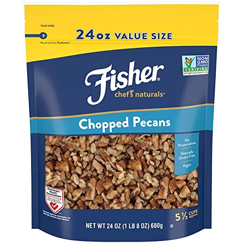 FISHER Chef's Naturals Chopped Pecans, 24 oz, Naturally Gluten Free, No Preservatives, Non-GMO