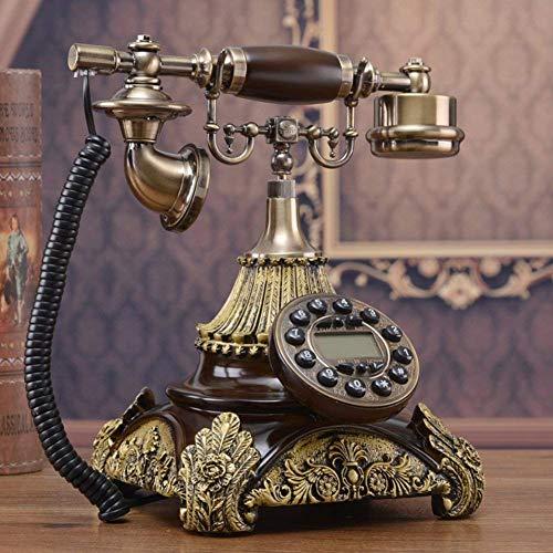 LHQ-HQ Vintage Creativa del hogar del teléfono Retro del teléfono Fijo Conjuntos de ID de Llamada for la decoración del hogar-A