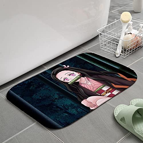 3D Alfombra de Demon Slayer, alfombras de Anime, cojín para Silla giratoria de Estudio para Dormitorio, tapete de Creatividad para niños-80X120CM-A_60x90cm