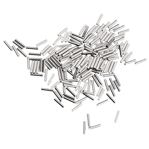 50 Stück Doppel Klemm-Hülsen zur Stahlvorfachanfertigung für Mono /& Drahtführer