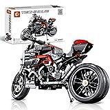 VIPO 702 piezas de construcción para motocicleta Ducati, paragolpes de motocicleta, juguete de construcción compatible con Lego Technic