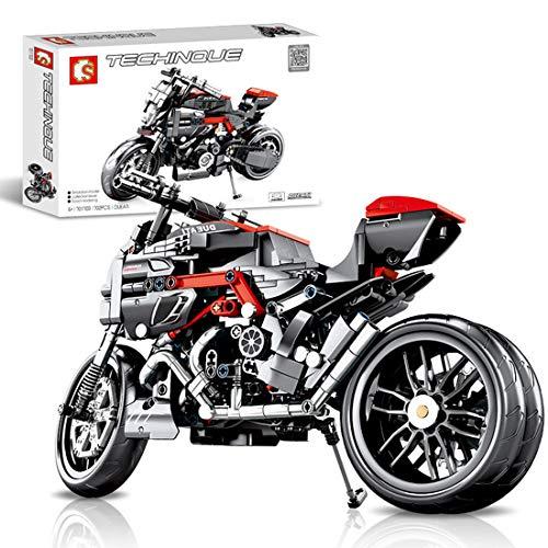 ColiCor Technic Bausteine Motorcycle Modell, 702pcs Straßenmotorrad für Harley Davidson Motorrad, Bausteine Konstruktionsspielzeug Kompatibel mit Lego Technic