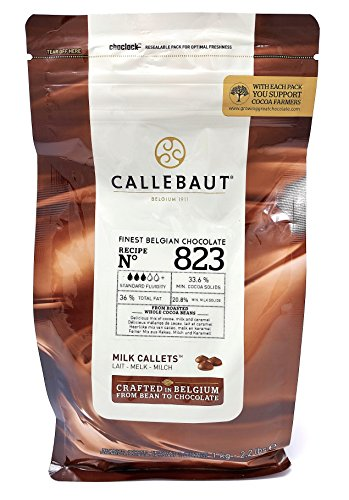 Callebaut N° 823 (33,6%) - Chocolat de Couverture au Lait Belge - Finest Belgian Milk Chocolate (Callets) 1kg
