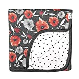 Large Premium Knit Baby 3 Layer Stretchy Quilt Blanket'Poppy' by Copper Pearl