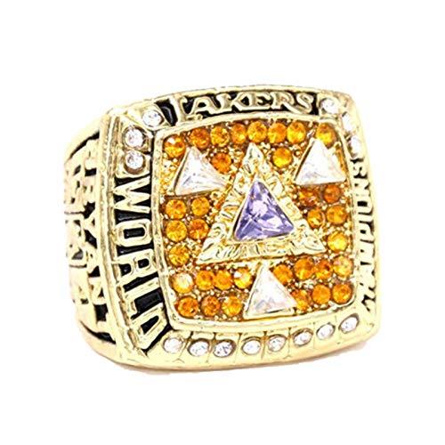 FGRGH Los Angeles Laker Championship Anillos para hombre, 2002 Champions Ring Replica para fans de baloncesto Colección de recuerdo, con caja, tamaño 8 ~ 14 sin caja-10