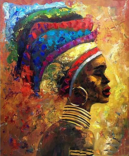 Adultos Puzzle 1000 Piezas De Madera Niño Rompecabezas-Cara Lateral De Niña Africana-Juego Casual De Arte DIY Juguetes Regalo Interesantes Amigo Familiar Adecuado