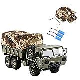 tengod Camión teledirigido 1:16 con accesorios de lona, M977 6WD 2.4G RC, simulador de camión militar estadounidense con 3 pilas, versión RTR