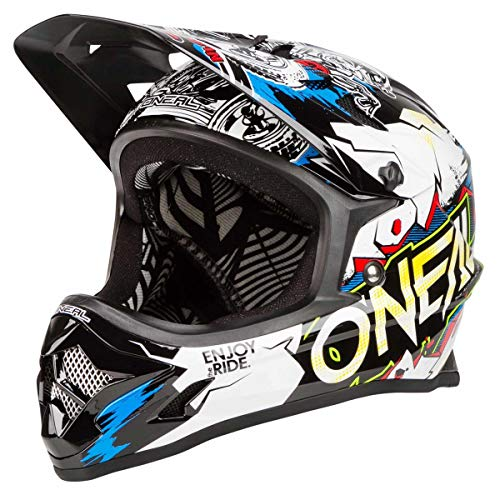 O'NEAL Backflip RL2 Villain DH Fahrrad Helm schwarz/weiß 2020 Oneal: Größe: M (57-58cm)