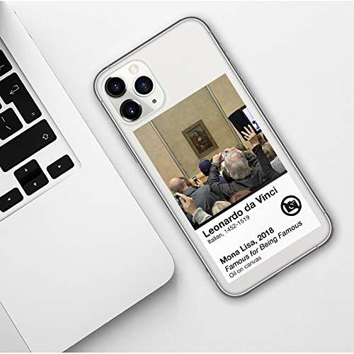 Wyalm Facia Divertida del teléfono de la Historieta Abstracta de la Cara para iPhones 11 Pro MAX X XR XR XS MAX 5S 6 6S 7 8 Plus Funda de Moda Suave para iPhone 12 Pro